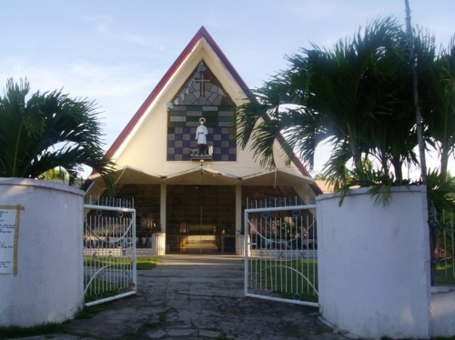 San Isidro Parish, Maya, Daanbantayan, Cebu: It's triangle! Looks like a pyramid, don't ya think?