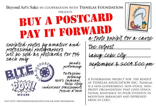 Buy a Postcard Pay it Forward