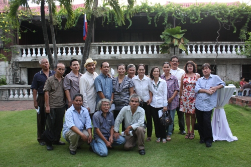 The artists whose artworks were featured at the Abellana and his Harvest Art Exhibit. Photo by Mia Abellana of RAFI.